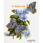 Pearly-Eyed Butterflies & Azalea  - #IOR241  -  PRINT