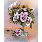 Pansies In Goblet  - #IOR242  -  PRINT