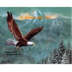 Eagle Above Treetops  - IOR245  -  PRINT