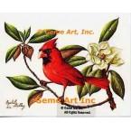 Cardinal & Magnolia  - IOR66  -  PRINT