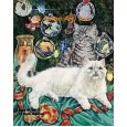 Cats At Christmas  - #ZOR708  -  PRINT