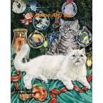Cats At Christmas  - #ZOR708  -  PRINT