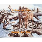 Courtship Wolves  - #UOR18  -  PRINT