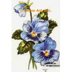 Blue Pansies  - #TOR953  -  PRINT