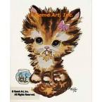 Cat & Goldfish  - #TOR203C  -  PRINT