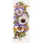 Purple White Pansies  - #TOR609  -  PRINT