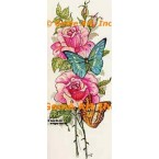 Pink Roses & Butterflies  - #TOR623  -  PRINT