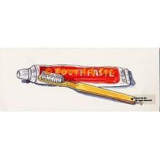 "1. Toothbrush & Paste  - TOR661  -  FIVE PRINT 4x10"""