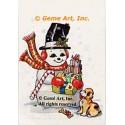 "1. Snowman  - #TM455  -  FIVE PRINT 8x10"""
