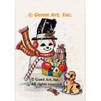 "1. Snowman  - #TOR455  -  FIVE PRINT 8x10"""