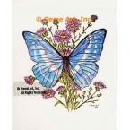 Blue Butterfly  - #TOR861  -  PRINT