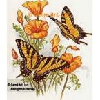 Butterflies & Flowers  - #TOR857  -  PRINT