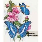 Blue Butterflies  - #TOR858  -  PRINT