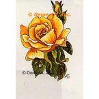 Yellow Rose  - #TORG231  -  PARCHMENT PRINT