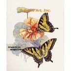 Butterflies & Nasturtiums  - #TOR5084  -  PRINT