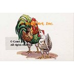 Rooster & Chicken  - #TOR5095  -  PRINT