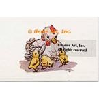 Mother & Chicks  - #TOR5096  -  PRINT