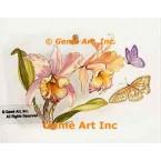 Butterflies & Orchids  - #TOR5142  -  PRINT