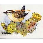 Bird & Cactus  - #TOR5211  -  PRINT