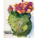 Purple Flower Cactus  - #TOR5213  -  PRINT