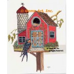 Red Barn Birdhouse  - #TOR5268  -  PRINT
