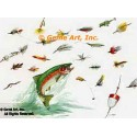 Fish with Hooks  - #TOR5275  -  PRINT