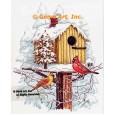 Birdhouse with Cardinals  - #TOR5297  -  PRINT