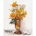 Daffodils In Gold Vase  - #TOR5349  -  PRINT