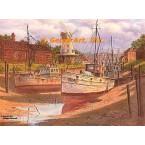 Windmill & Boats  - #DOR12  -  PRINT