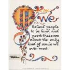 We Believe  - #DOR28  -  PRINT