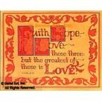 Faith, Hope, Love  - #DOR16  -  PRINT