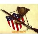 Patriotic Symbols  - #XBAM75  -  PRINT