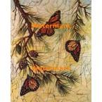 Butterflies & Evergreen  - #XBBF59  -  PRINT