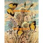 Butterflies & Dandelions  - #XBBF62  -  PRINT