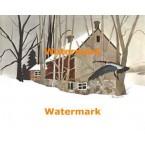 Winter Scene  - #XBBI-697  -  PRINT