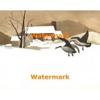 Winter Scene  - #XBBI-699  -  PRINT