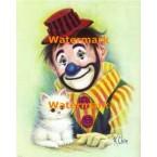 Clown & Cat  - #XBCO-139  -  PRINT