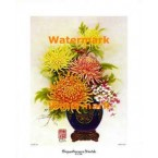 1.  Chrysanthemums Orientale  - #XKFL211  -  PRINT