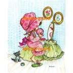 Pink Bonnet  - #XBJ233  -  PRINT