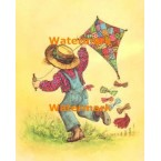 Flying A Kite  - #XBJ471  -  PRINT