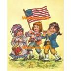 Patriotic Parade  - #XBJ563  -  PRINT