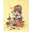 Sewing American Flag  - #XXBJ572  -  PRINT 4x5