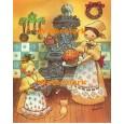 Baking Christmas Treats  - #XXBJ655  -  PRINT 8x10