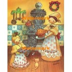 Baking Christmas Treats  - #XBJ655  -  PRINT