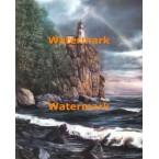 Rocky Cliff Lighthouse  - #XBKD0129  -  PRINT