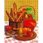 Breads & Fruits  - XBKM686  -  PRINT