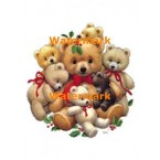 Christmas Teddies  - #XM119  -  PRINT