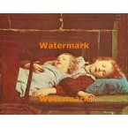 Sleeping Children On Porcelain Stove  - XBMC116  -  PRINT