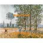 Madame Monet In The Garden  - #XBMC154  -  PRINT