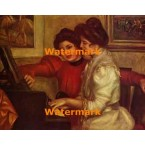 Yvonne and C. Lerolle At The Piano  - #XBMC172  -  PRINT